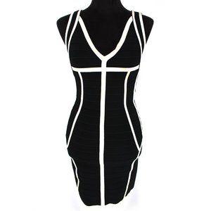 NWT Herve Leger Rayon Bandage Knit Dress M FLAWED